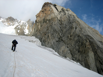 East ridge of Pyramide du Tacul