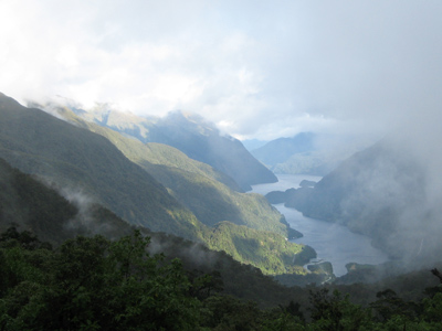Doubtful Sound seen from the Wilmot Pass