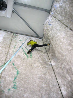 The Ice Factor indoor ice climbing wall